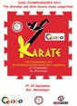 ISSO CHAMPIONSHIPS 2013 The Shotokan and Shito karate styles competition