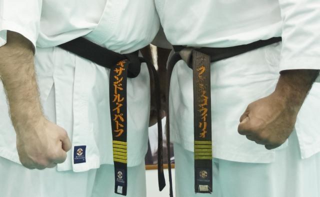 прямая сдача на пояс по карате киокушинкай молодые