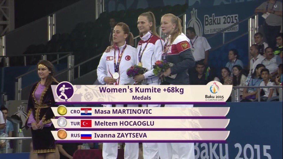 Россиянка завоевала медаль по каратэ Евроолимпийских игр
