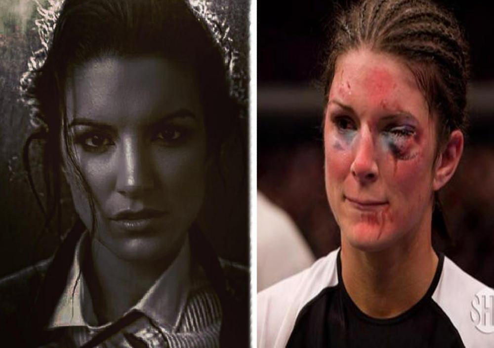 Джина Карано до и после боя в ММА