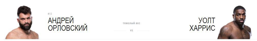 Андрей Орловский против Уолта Харриса
