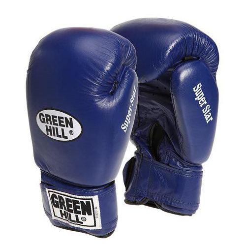 Перчатки боксерские боевые на липучке Super Star натуральная кожа
