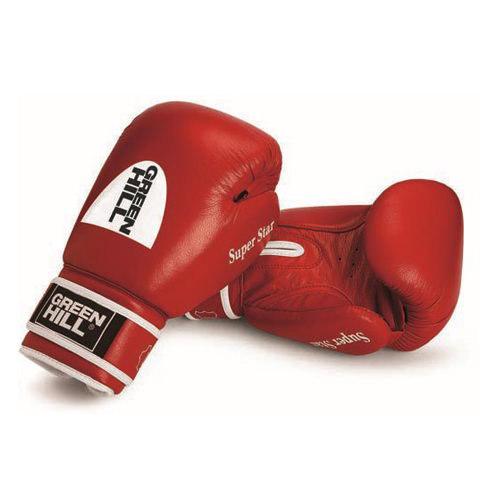 Перчатки для бокса и кикбоксинга Super Star из натуральной кожи, одобрено AIBA