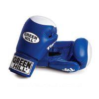 """Перчатки боксерские боевые TIGER верх из натуральной кожи для соревнований и тренировок, технология """"Антинокаут"""""""
