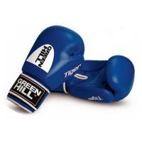 """Перчатки боксерские боевые TIGER верх из натуральной кожи, технология """"Антинокаут"""""""