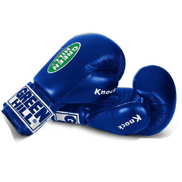 """Перчатки для бокса и кикбоксинга """"KNOCK"""" тренировочные из натуральной кожи"""
