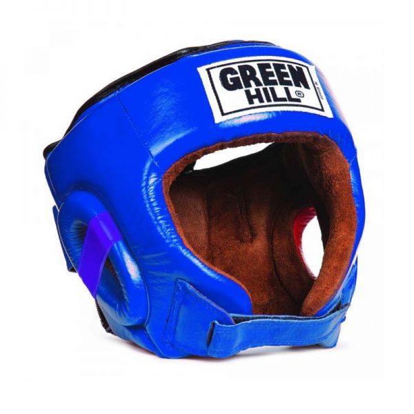 Шлем боксерский BEST для тренировок и соревнований, натуральная кожа, защита темени