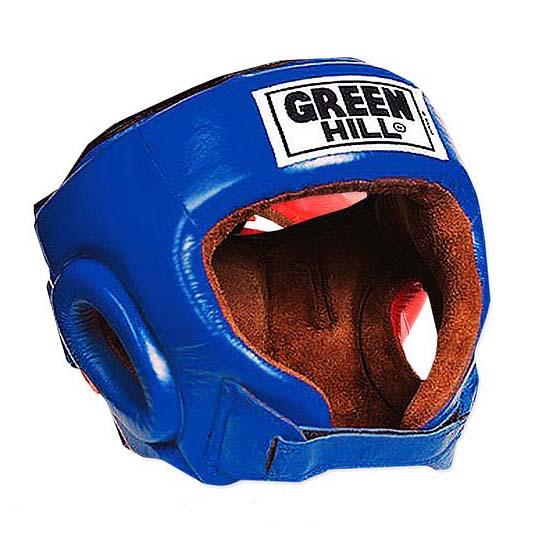 Шлем для бокса и кикбоксинга DEFENCE тренировочный с усиленной защитой, натуральная кожа