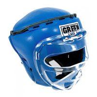 Шлем RING тренировочный закрытый боксерский, кикбоксерский, MMA шлем усиленная защита, натуральная кожа