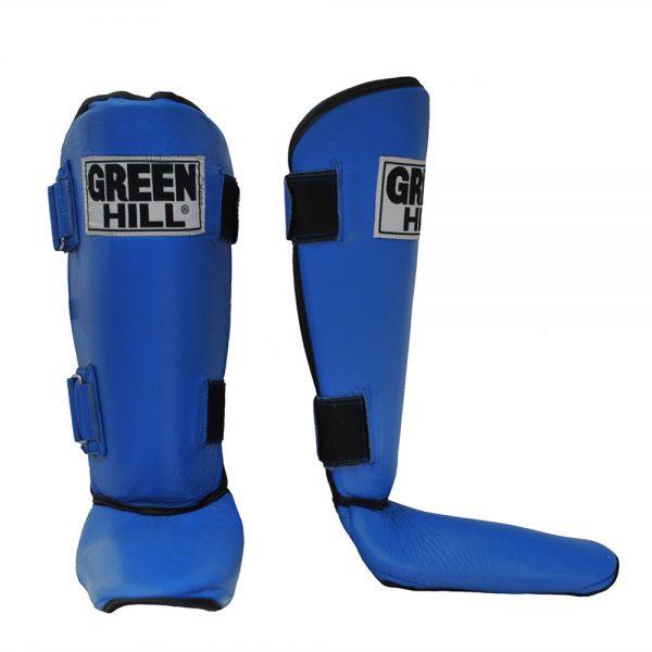 Защита голени и стопы STRONG натуральная кожа, толщина 3 см. Green Hill