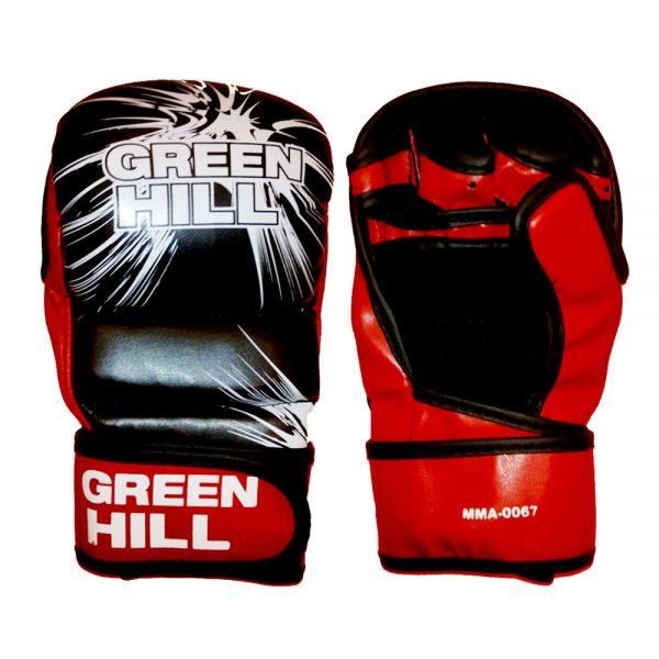 Перчатки MMA черно-красные искусственная кожа. Все размеры