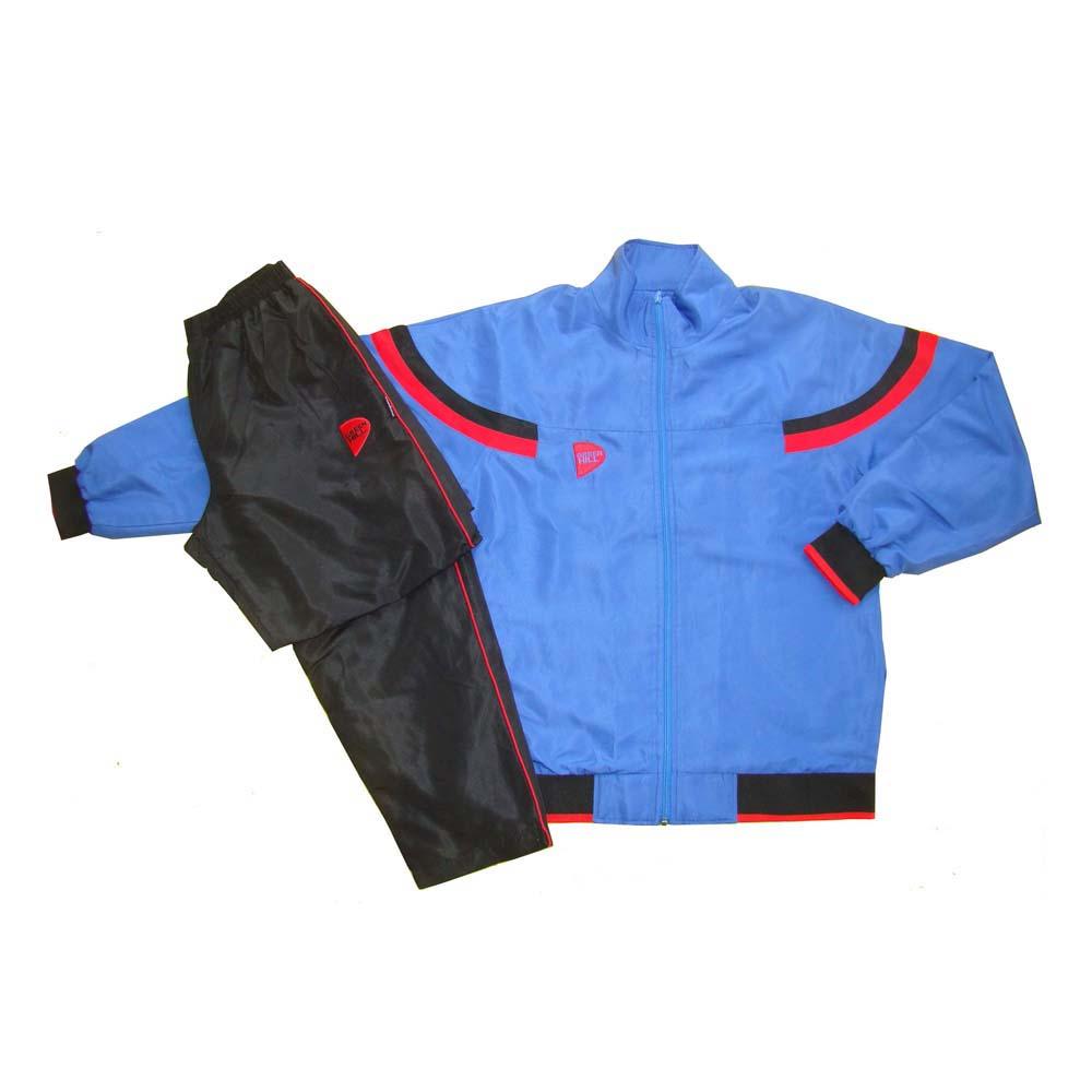 Костюм спортивный голубой полиэстер для занятий спортом и повседневного ношения.