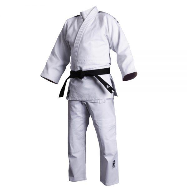 Кимоно для дзюдо Contest белое смесь полиэстера и хлопока усиленные места в областях с высокой нагрузкой