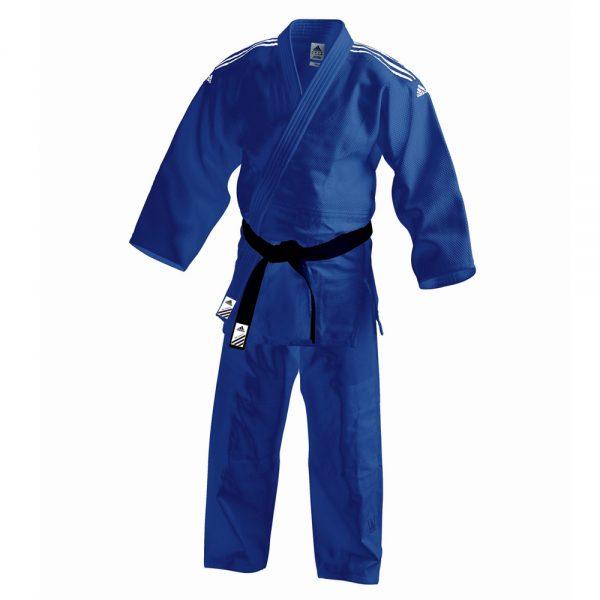 Кимоно для дзюдо Contest синее смесь полиэстера и хлопока усиленные места в областях с высокой нагрузкой