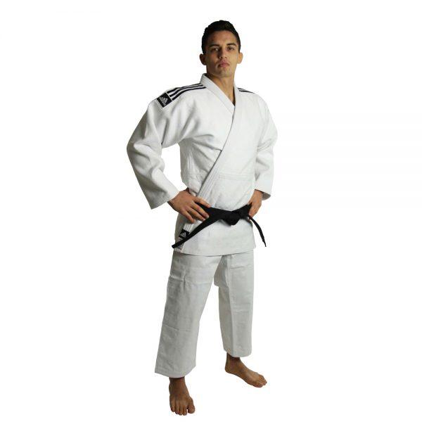 Кимоно для дзюдо Champion 2 IJF белое идеальное кимоно из плотной ткани усиленные места в областях с высокой нагрузкой