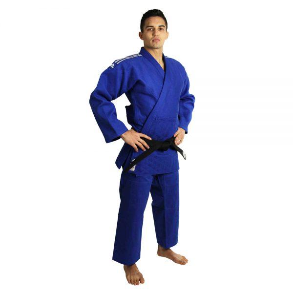 Кимоно для дзюдо Champion 2 IJF SLIM FIT синее  идеальное кимоно из плотной ткани усиленные места в областях с высокой нагрузкой