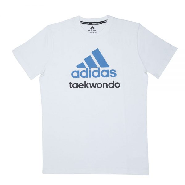 Футболка детская Community T-Shirt Taekwondo хлопковый трикотаж эффективно отводит влагу от тела во время тренировки рифленый круглый ворот