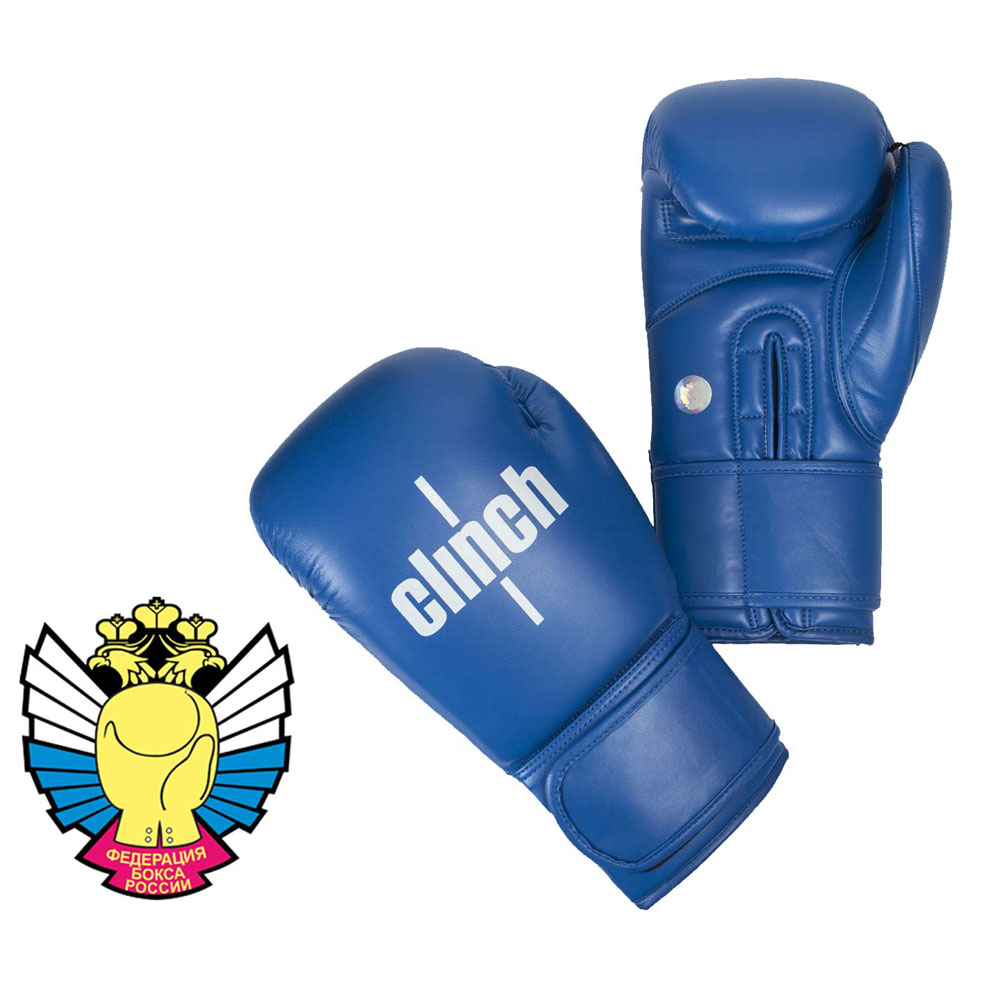 Боксерские перчатки Clinch Olimp из высококачественного эластичного полиуретана широкая манжета на липучке