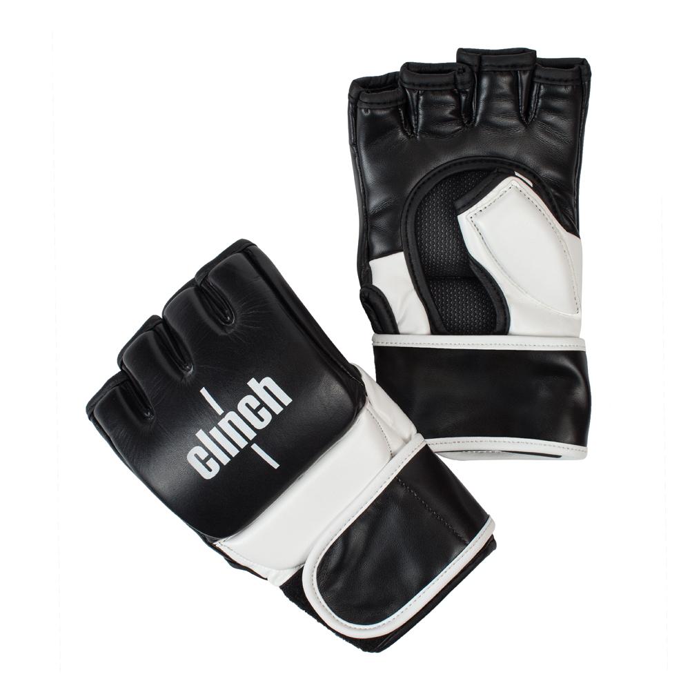 Перчатки для смешанных единоборств Clinch MMA Combat из натуральной кожи защита большого пальца длинная манжета на липучке