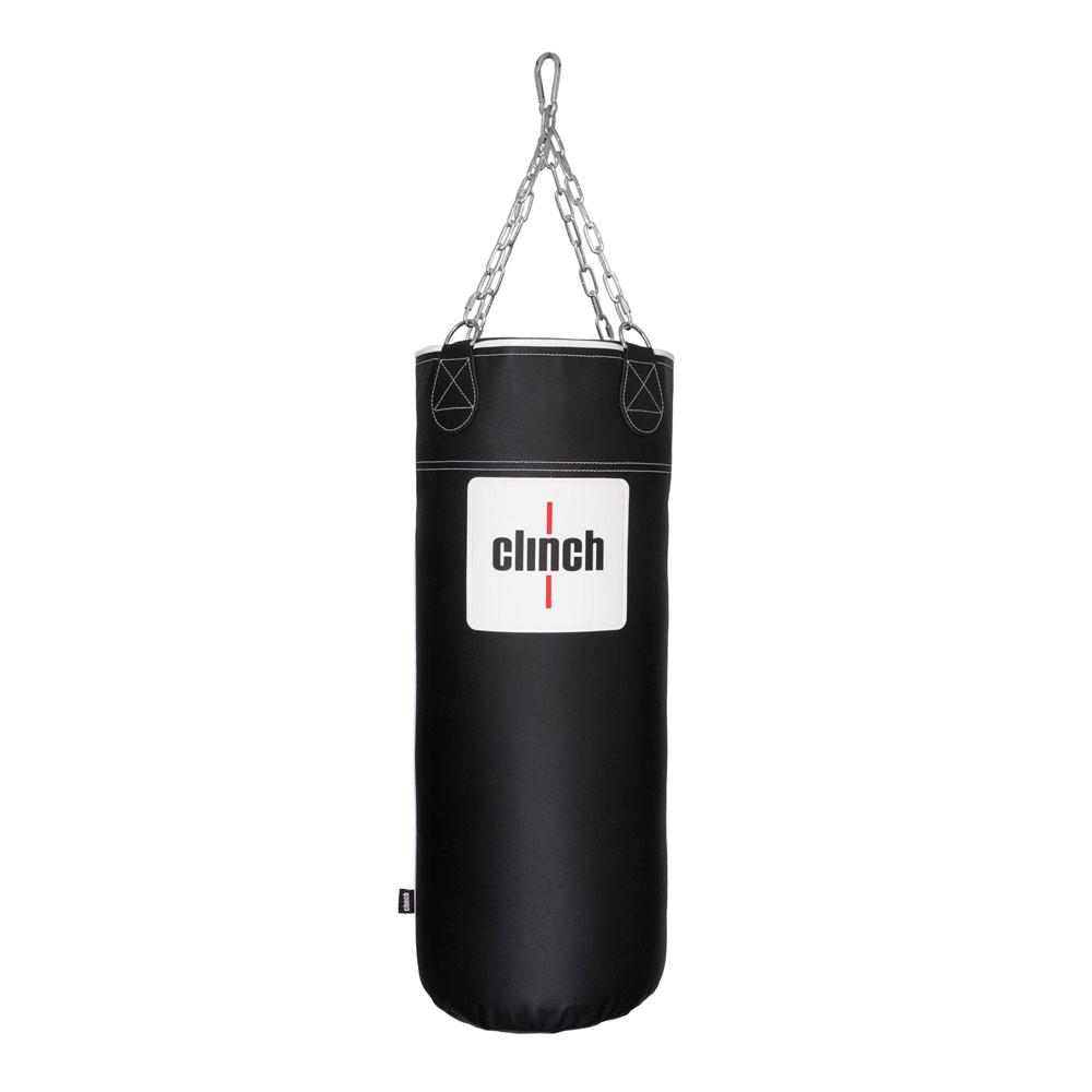 Боксерский мешок CLINCH PROFI & DURABLE. из мягкой натуральной кожи подвес на 4 цепях уши из ременной кожи