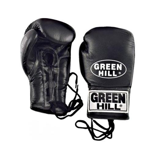Профессиональные боксерские перчатки для соревнований POWER на шнуровке, натуральная кожа