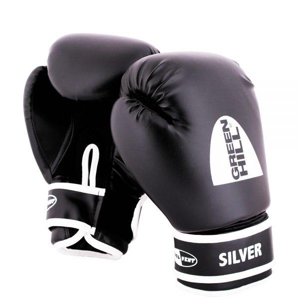Перчатки боксерские тренировочные SILVER Green Hill (6-14 oz)