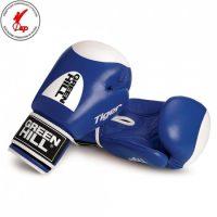 BGT-2010b Кикбоксерские перчатки TIGER Антинокаут для соревнований и тренировок Green Hill с мишенью 10 oz