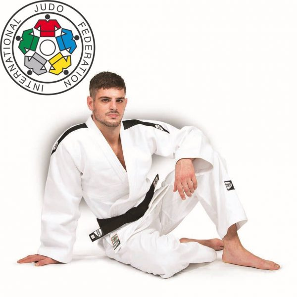 JSP-10387 КИМОНО ДЗЮДО IJF PROFESSIONAL Green Hill БЕЛОЕ, ОДОБРЕНО IJF