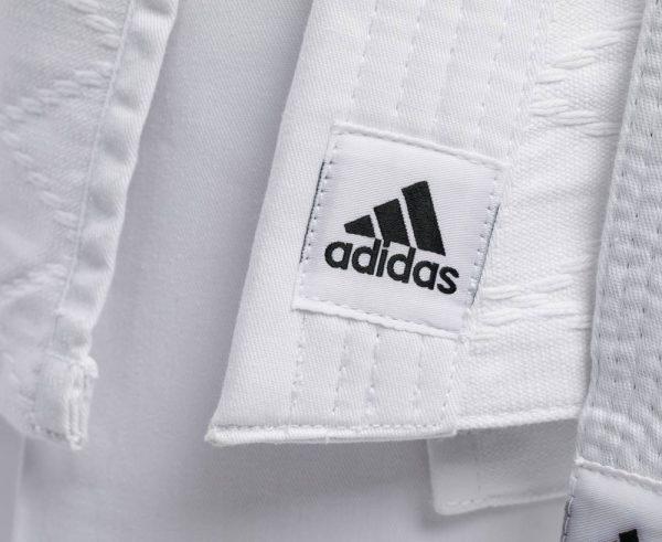 Кимоно для дзюдо Adidas Training белое, усилено в областях с высокой нагрузкой 500 грамм плотность