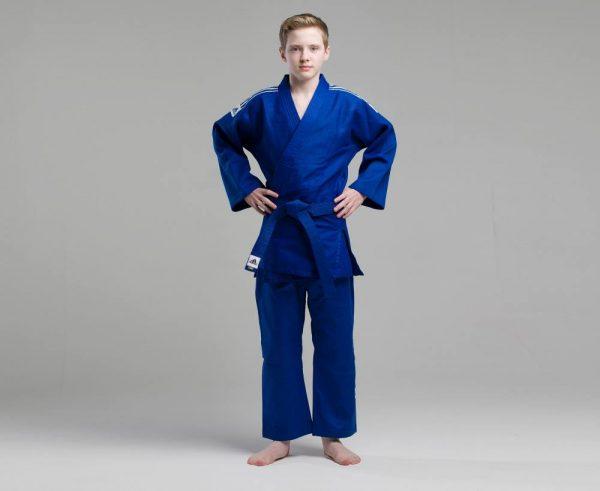 Кимоно для дзюдо Адидас Training синее, усилено в областях с высокой нагрузкой 500 грамм