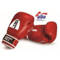 Перчатки для бокса Super Star из натуральной кожи (одобрено AIBA) Green Hill