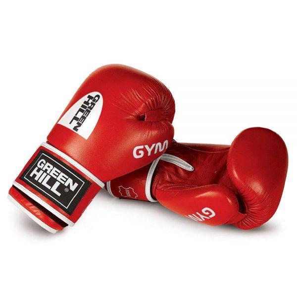 боксерские перчатки GYM Green Hill натуральная кожа