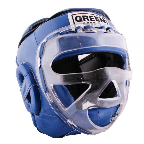 боксерский шлем с пластиковой маской
