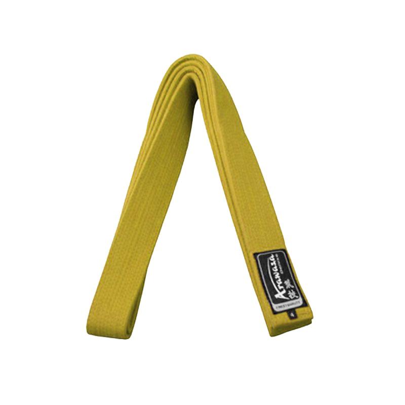 Пояс каратэ для кумите Arawaza желтый хлопок одобрено WKF