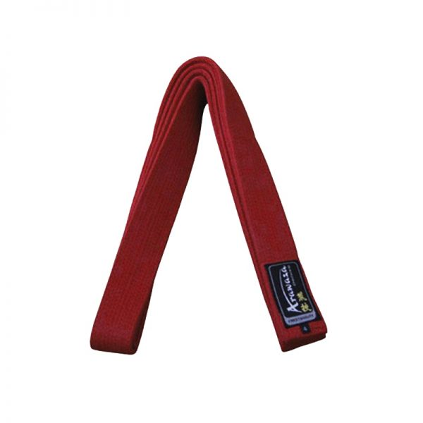 Пояс каратэ для кумите Arawaza красный хлопок одобрено WKF