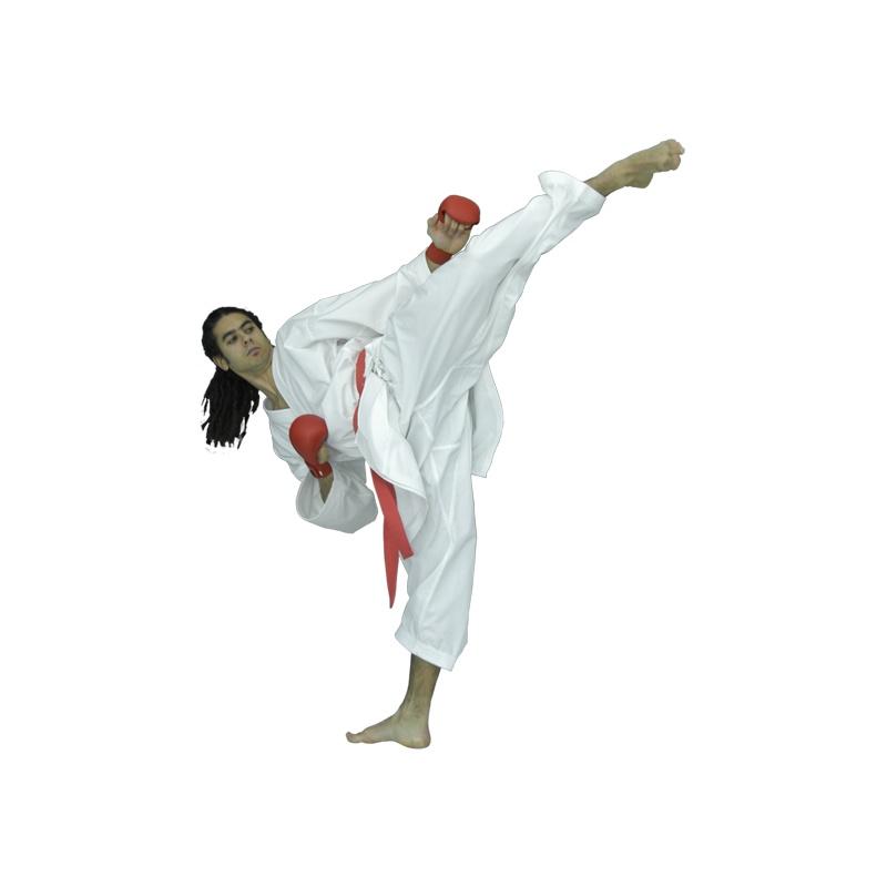Кимоно каратэ для спаррингов Arawaza Onyx 100% хлопок обработка анти-бактериальным составом вес 8 унций одобрено WKF