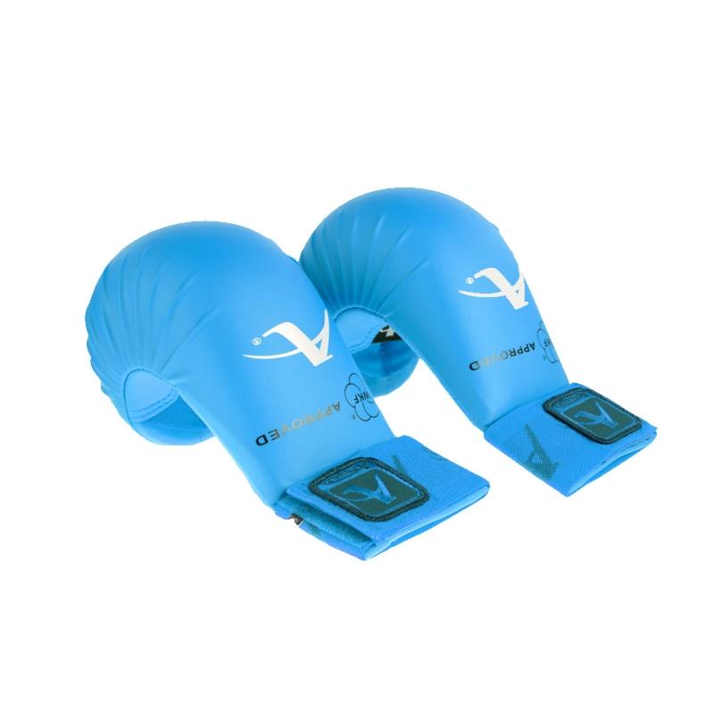 Накладки на руки WKF нескользящие покрытие двойной шов усиленные резинки одобрено WKF