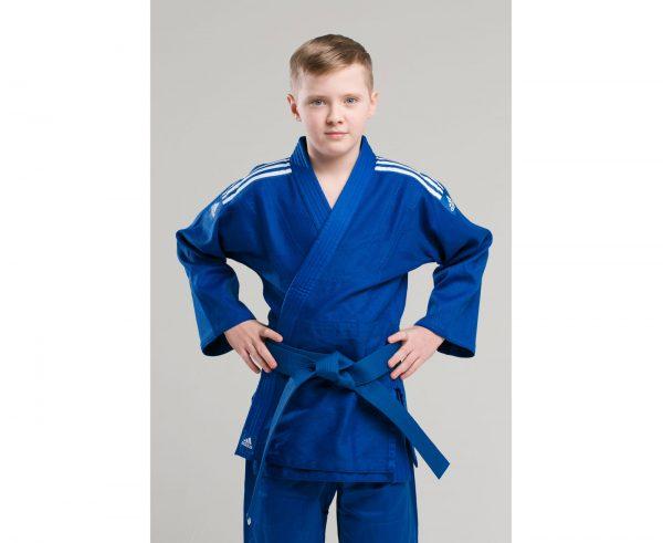 форма дзюдо адидас синяя детская