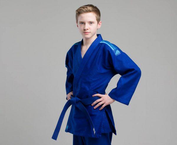 форма дзюдо адидас синяя