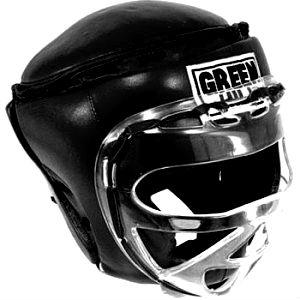 шлем с маской для кикбоксинга