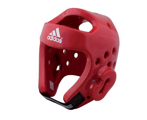 шлем тхэквондо втф адидас красный