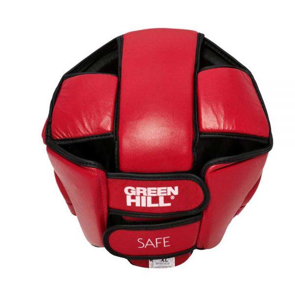 HGS-4023S Шлем SAFE на шнуровке белый/синий/красный Green Hill