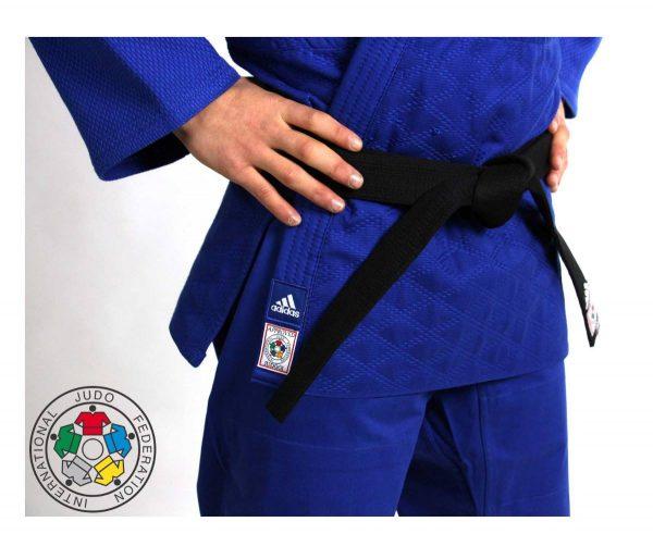 Кимоно для дзюдо Champion 2 IJF синее идеальное кимоно из плотной ткани усиленные места в областях с высокой нагрузкой