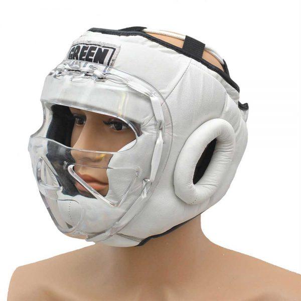 HGS-4023S Шлем SAFE на шнуровке белый/синий/красный Green Hill белый