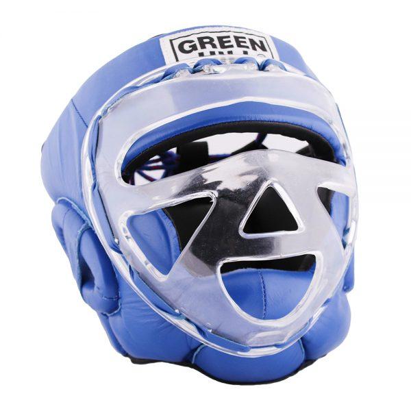 HGS-4023S Шлем SAFE на шнуровке белый/синий/красный Green Hill синий