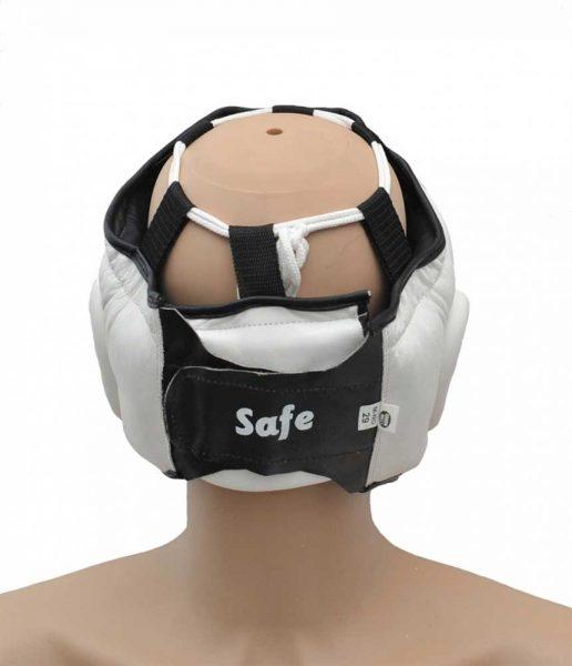 HGS-4023S Шлем SAFE на шнуровке белый/синий/красный Green Hill сзади