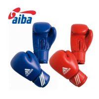 Боксёрские перчатки Adidas AIBA (лицензированная модель) из воловьей кожи