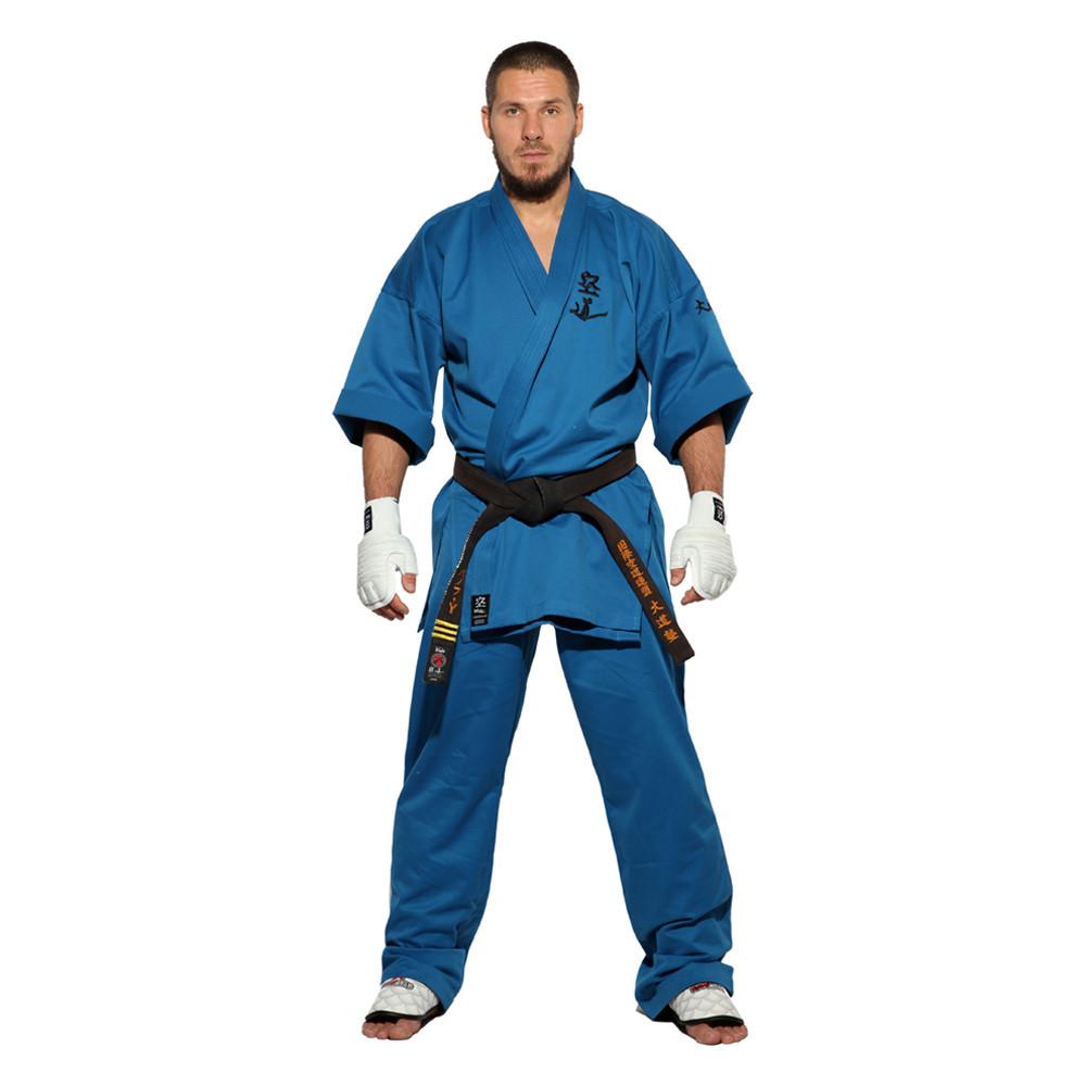 Кимоно для Кудо синее хлопок одобрено Федерацией кудо России