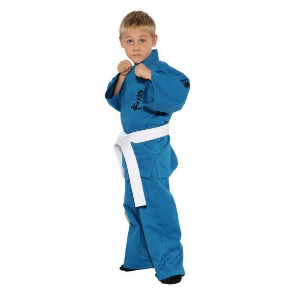 Детское кимоно для Кудо синее хлопок одобрено Федерацией кудо России
