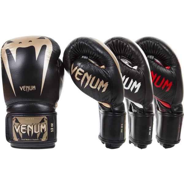 Боксерские перчатки Venum Giant 3.0 Black/Gold Nappa Leather